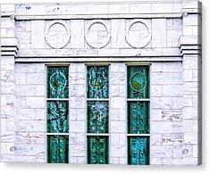 Louisville Temple Details Acrylic Print