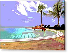Lounging By The Pool Acrylic Print