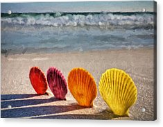 Lounging In Destin Acrylic Print by JC Findley