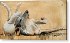 Lounging Acrylic Print by Mary Leslie