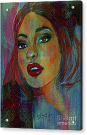 Acrylic Print featuring the painting Lourdes At Twilight by P J Lewis