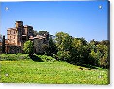 Lourmarin Castle Acrylic Print by Olivier Le Queinec