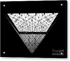 Lourve Pyramid Acrylic Print by Amar Sheow