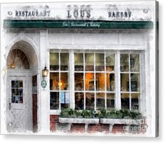 Lou's Of Hanover New Hampshire Acrylic Print by Edward Fielding