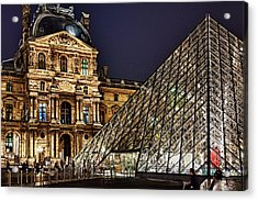 Louvre By Night I Acrylic Print