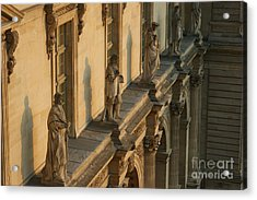 Louvre Exterior Acrylic Print by Christine Jepsen