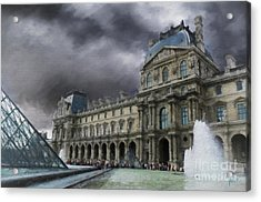 Acrylic Print featuring the mixed media Louvre by Jim  Hatch