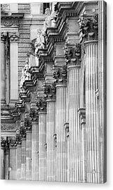 Acrylic Print featuring the photograph Louvre Pillars, Paris, 2015 by Hitendra SINKAR