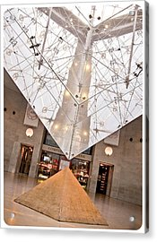 Acrylic Print featuring the photograph Louvre Pyramid by Silvia Bruno