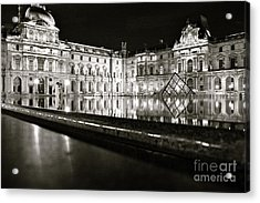 Acrylic Print featuring the photograph Louvre Reflections by Danica Radman