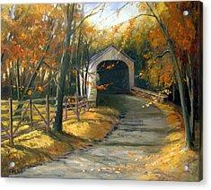 Loux Covered Bridge Acrylic Print by Kit Dalton