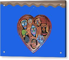 Lovable Funny Faces Acrylic Print by Betty  Roberts