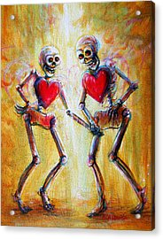 Acrylic Print featuring the painting Love 2 Love by Heather Calderon