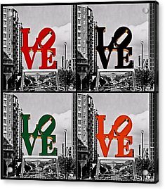 Acrylic Print featuring the photograph Love 4 All by DJ Florek