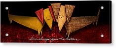 Love Always Goes The Distance Acrylic Print by Shevon Johnson
