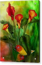 Love Among The Lilies  Acrylic Print