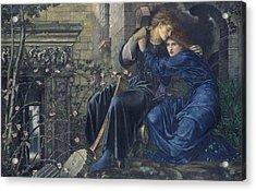 Love Among The Ruins Acrylic Print by Edward Burne-Jones