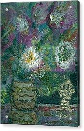 Love And A Daisy  Acrylic Print by Anne-Elizabeth Whiteway