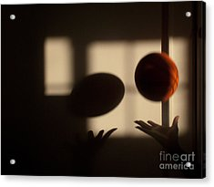 Love And Basketball Acrylic Print by Valerie Morrison