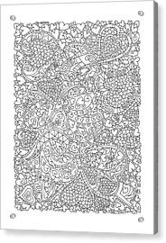 Love And Chrysanthemum Filled Hearts Vertical Acrylic Print by Tamara Kulish