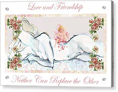 Love And Friendship - Valentine Card Acrylic Print by Carolyn Weltman