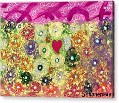 Love And Silly Bubbles Acrylic Print