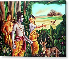 Love And Valour- Ramayana- The Divine Saga Acrylic Print by Ragunath Venkatraman