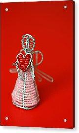Love Angel Acrylic Print by Evelina Kremsdorf