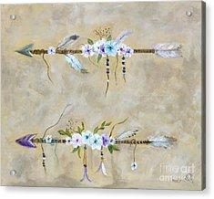 Love Arrows Acrylic Print by Marilyn Dunlap