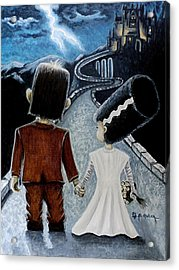 Love Begins With A Spark Acrylic Print by Al  Molina