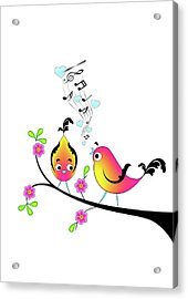 Love Bird Serenade Acrylic Print