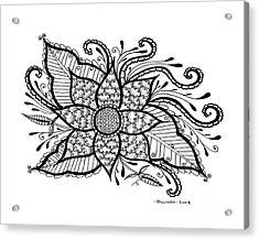 Love Blooms Acrylic Print