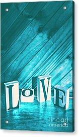 Love Blues Acrylic Print