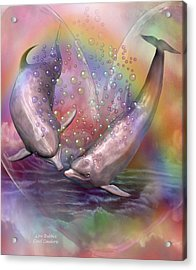 Love Bubbles Acrylic Print