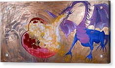 Acrylic Print featuring the painting Love Burns by Sima Amid Wewetzer