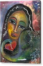 Acrylic Print featuring the painting Love Can Draw An Elephant Through A Key Hole by Prerna Poojara