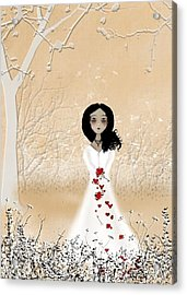 Love Can Touch Us One Time Acrylic Print by Charlene Zatloukal