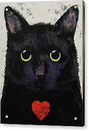 Love Cat Acrylic Print by Michael Creese