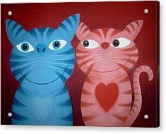 Love Catz Acrylic Print