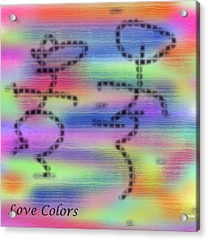 Love Colors Acrylic Print