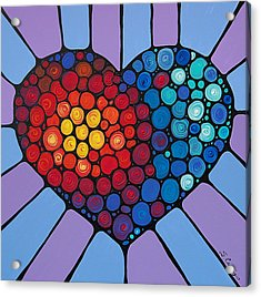 Love Conquers All Acrylic Print by Sharon Cummings