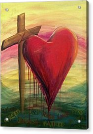 Love Covers All Acrylic Print