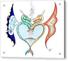 Love Dragons Acrylic Print by Robert Ball