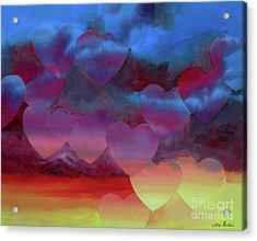 Love Drift Acrylic Print by Jeni Bate