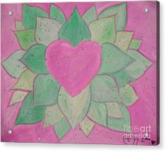 Love Flowers Acrylic Print by Sacred  Muse