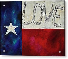 Acrylic Print featuring the painting Love For Texas Two by Patti Schermerhorn