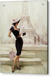 Acrylic Print featuring the painting Love, From Paris by Steve Henderson