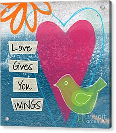 Love Gives You Wings Acrylic Print by Linda Woods