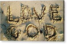 Love God Acrylic Print