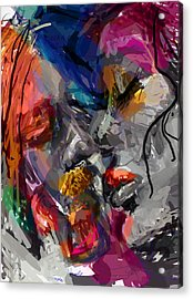 Love Hate Being Acrylic Print by James Thomas